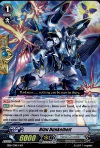 Cardfight Vanguard Champions of the Cosmos Single Card RR Rare EB08/008 Blau Dunkelheit