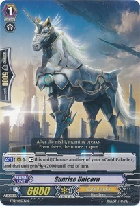 Cardfight Vanguard ENGLISH Binding Force of the Black Rings Single Card Common BT12/055 Sunrise Unicorn