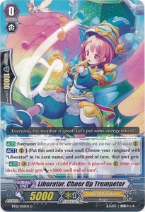 Cardfight Vanguard ENGLISH Binding Force of the Black Rings Single Card Common BT12/056 Liberator, Cheer Up Trumpeter
