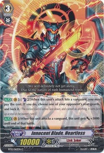 Cardfight Vanguard ENGLISH Binding Force of the Black Rings Single Card Common BT12/062 Innocent Blade, Heartless