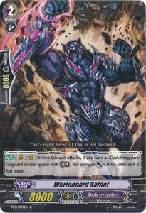 Cardfight Vanguard ENGLISH Binding Force of the Black Rings Single Card Common BT12/077 Werleopard Soldat