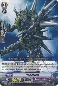 Cardfight Vanguard ENGLISH Binding Force of the Black Rings Single Card Common BT12/078 Flog Knight