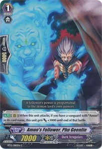 Cardfight Vanguard ENGLISH Binding Force of the Black Rings Single Card Common BT12/080 Amon's Follower, Phu Geenlin