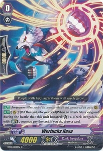 Cardfight Vanguard ENGLISH Binding Force of the Black Rings Single Card Common BT12/084 Werfuchs Hexer