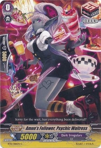 Cardfight Vanguard ENGLISH Binding Force of the Black Rings Single Card Common BT12/086 Amon's Follower, Psychic Waitress