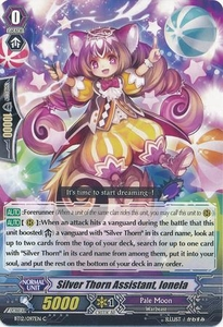 Cardfight Vanguard ENGLISH Binding Force of the Black Rings Single Card Common BT12/097 Silver Thorn Assistant, Ionela