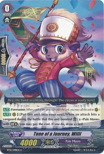 Cardfight Vanguard ENGLISH Binding Force of the Black Rings Single Card Common BT12/098 Journeying Tone, Willy