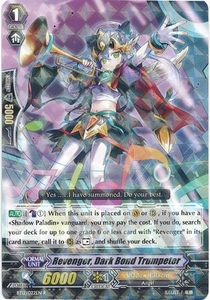 Cardfight Vanguard ENGLISH Binding Force of the Black Rings Single Card Rare BT12/022 Revenger, Dark Bond Trumpeter