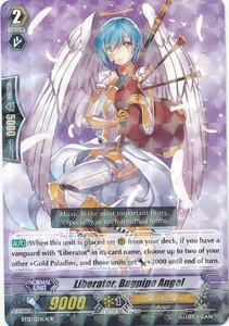 Cardfight Vanguard ENGLISH Binding Force of the Black Rings Single Card Rare BT12/024 Liberator, Bagpipe Angel