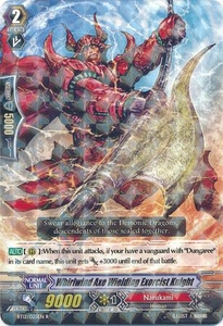 Cardfight Vanguard ENGLISH Binding Force of the Black Rings Single Card Rare BT12/025 Lightning Axe Wielding Exorcist Knight
