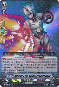 Cardfight Vanguard ENGLISH Binding Force of the Black Rings Single Card RR Rare BT12/014 Barrier Star-vader, Promethium