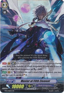 Cardfight Vanguard ENGLISH Binding Force of the Black Rings Single Card RR Rare BT12/016 Master of Fifth Element
