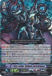 Cardfight Vanguard ENGLISH Binding Force of the Black Rings Single Card RRR Rare BT12/005 Star-vader, Nebula Lord Dragon