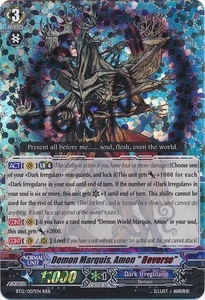 Cardfight Vanguard ENGLISH Binding Force of the Black Rings Single Card RRR Rare BT12/007 Demon Marquis, Amon
