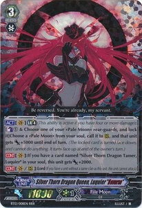 Cardfight Vanguard ENGLISH Binding Force of the Black Rings Single Card RRR Rare BT12/008 Silver Thorn Dragon Queen, Luquier