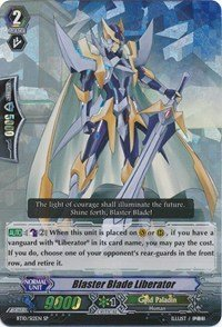 Cardfight Vanguard ENGLISH Triumphant Return of the King of Knights Single Card SP BT10/S12 Blaster Blade Liberator