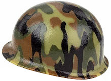 Citizen Brick M1 Steel Pot Helmet with Woodland Camo
