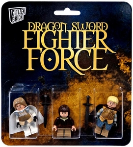 Citizen Brick Mini Figure 3-Pack Dragon Sword Fighter Force Set 1