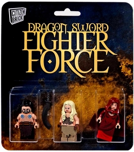 Citizen Brick Mini Figure 3-Pack Dragon Sword Fighter Force Set 3