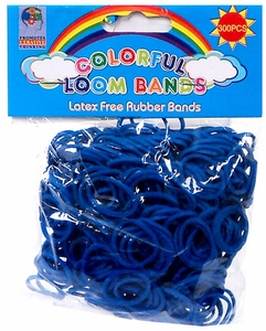 Colorful Loom Bands 300 Navy Blue Rubber Bands with 'S' Clips