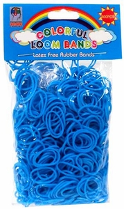 Colorful Loom Bands 600 Blue Rubber Bands with 'S' Clips