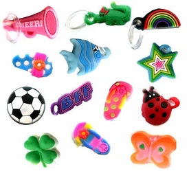Confetti Rubber Band Bracelet Charm 3-Pack [For Rainbow Loom Bracelets]