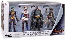 DC Collectibles Batman Arkham Asylum Action Figure 4-Pack [Batman, Joker, Harley Quinn & Scarecrow] New!