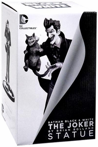 DC Collectibles Batman Black & White Joker Statue Brian Bolland New!
