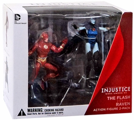 DC Injustice: Gods Among Us 3.75 Inch Action Figure 2-Pack Flash & Raven New!