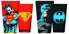 DC Pint Glass Gift Set Superman & Batman Pre-Order ships April