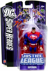 DC Super Heroes Justice League Unlimited Action Figure Superman with Red Steel Bar [Purple Card]