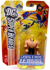 DC Super Heroes Justice League Unlimited Mini Metal Figure Aquaman [Orange Card]