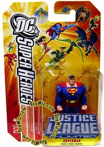 DC Super Heroes Justice League Unlimited Mini Metal Figure Superman [Orange Card]