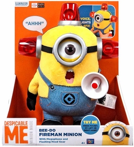 Despicable Me Minion Made Plush 13 Inch Figure Talking & Light-Up Bee-Do Fireman Minion Minion [Megaphone & Flashing Head Gear]