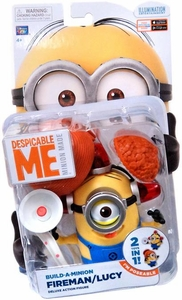 Despicable Me Minion Made DELUXE 5 Inch Action Figure Build-a-Minion Fireman / Lucy