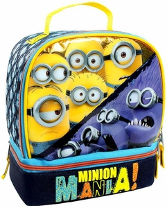 Despicable Me Minion Made Dual Compartment Insulated Lunch Bag Minion Mania! New!