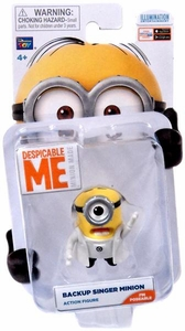 Despicable Me Minion Made Poseable 2 Inch Action Figure Backup Singer Minion