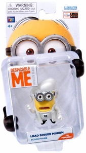 Despicable Me Minion Made Poseable 2 Inch Action Figure Lead Singer Minion