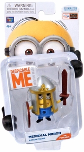 Despicable Me Minion Made Poseable 2 Inch Action Figure Medieval Minion