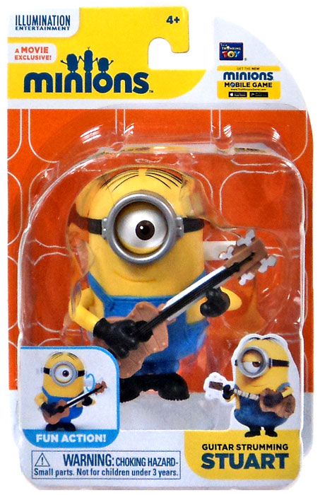 Minion Stuart With Guitar Guitar Strumming Stuart Action