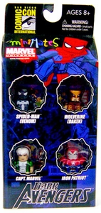 Diamond Select Toys Marvel Minimates 2009 SDCC San Diego Comic-Con Exclusive Mini Figure 4-Pack Dark Avengers Set #1 [Wolverine, Black Spider-Man, Captain Marvel & Iron Patriot]