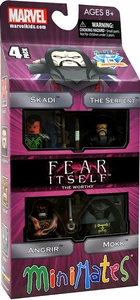 Diamond Select Toys Marvel Minimates Exclusive 4-Pack Fear Itself The Worthy [Skadi, The Serpent, Angrir & Mokk] BLOWOUT SALE!