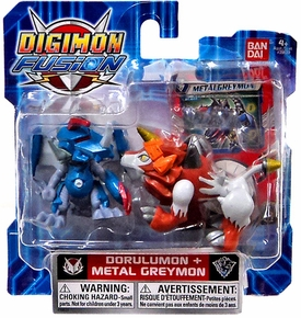 Digimon Fusion Mini Figure 2-Pack Dorulumon & Metalgreymon