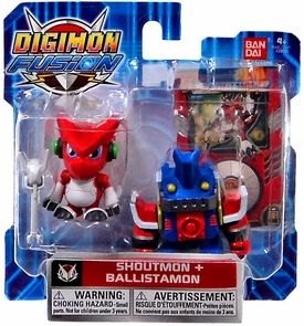 Digimon Fusion Mini Figure 2-Pack Shoutmon & Ballistamon
