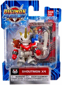 Digimon Fusion Action Figure Shoutmon X4