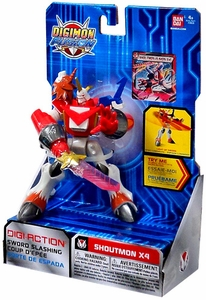 Digimon Fusion Deluxe Digi-Action Figure Shoutmon X4