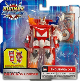 Digimon Fusion Transforming Digi-Fusion Loader Action Figure Shoutmon X3