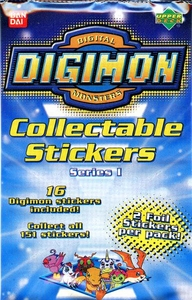 Digimon Series 1 Sticker Pack [16 Stickers]