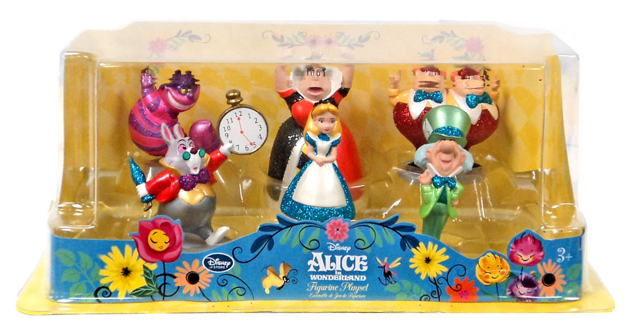 disney alice in wonderland figure playset