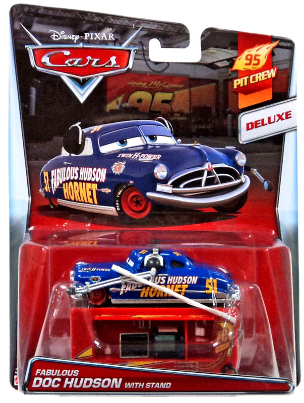 Disney Cars 95 Pit Crew Fabulous Doc Hudson with Stand ...